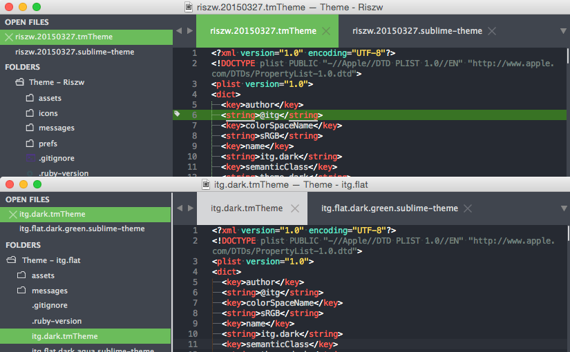 Sublime Text の Theme – itg.flat をカスタマイズ